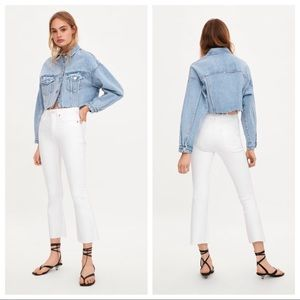 NWT. Zara Mid-rise Cropped Jeans. Size 0, 4, 6.